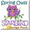Spring Owls Design Pack