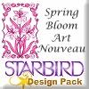 Spring Bloom Art Nouveau