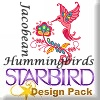 Jacobean Hummingbirds Design Pack