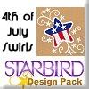 4th of July Swirls