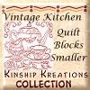 Vintage Kitchen Quilt Blocks / Smaller