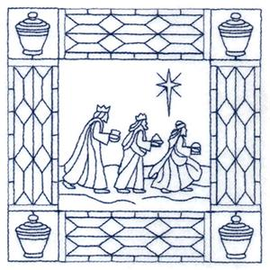 Christmas Three Wisemen Stipple