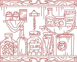 Frontier Kitchen Quilt Block 10 / Large
