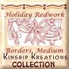Holiday Redwork / Medium Size Borders