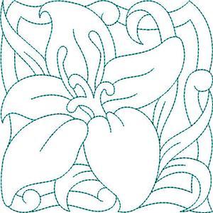 Pastel Flower Quilt Block 12 / Large