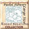 Pastel Flower / Large Size Quilt Blocks