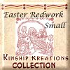 Easter Red Work / Small Size Quilt Blocks
