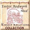 Easter Red Work / Medium Size Quilt Blocks