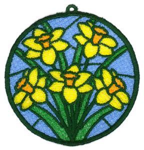 Daffodils FSL Sun Catcher