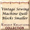 Vintage Sewing Machine / Small Size Quilt Blocks