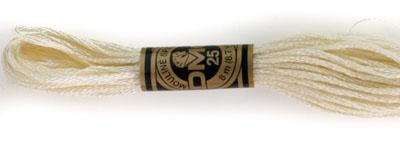 DMC 6 Strand Cotton Embroidery Floss / 712 Cream
